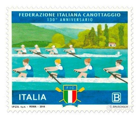 Francobollo Federazione Italiana Canottaggio