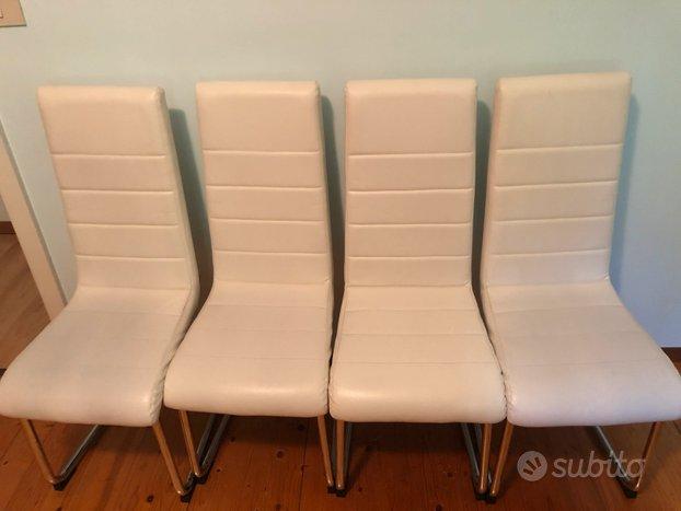 Sedie in pelle bianche - Arredamento e Casalinghi In ...