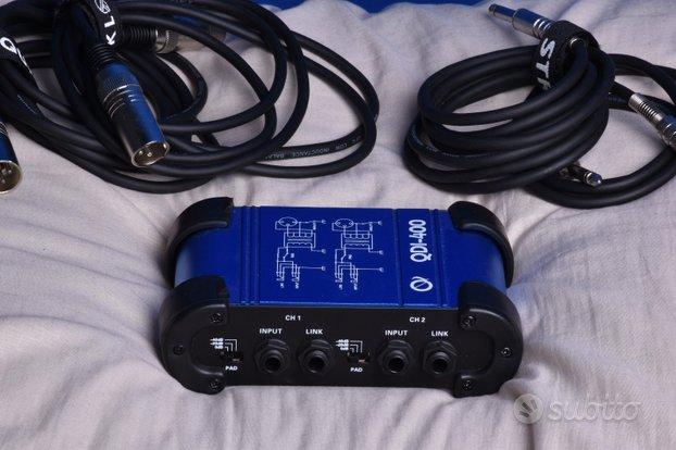 OQAN Qdi-400 Stereo + Cavo Jack e XLR