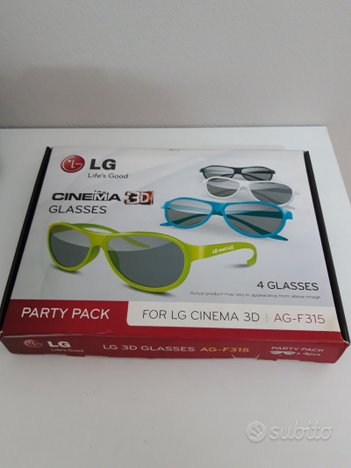 4 Occhiali 3D LG PARTY PACK