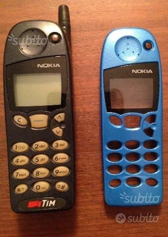 Cellulare nokia 5110 batteria cover azzurra