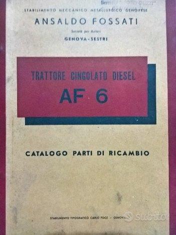 Catalogo ricambi trattore cingolato diesel AF