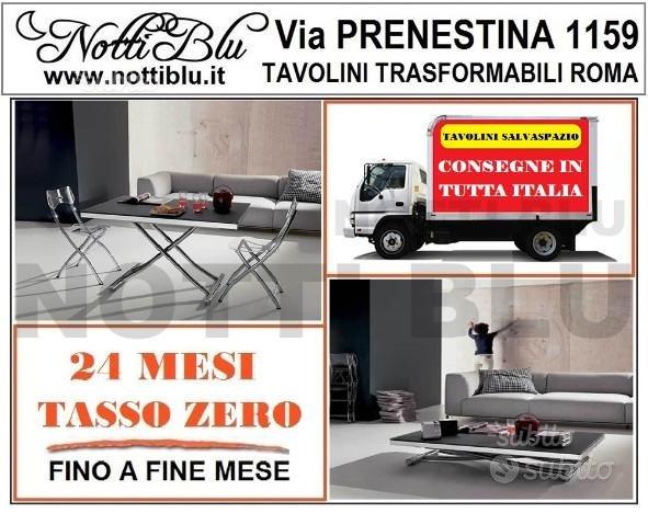 Tavolino Trasformabile E058 anche per sotto letto