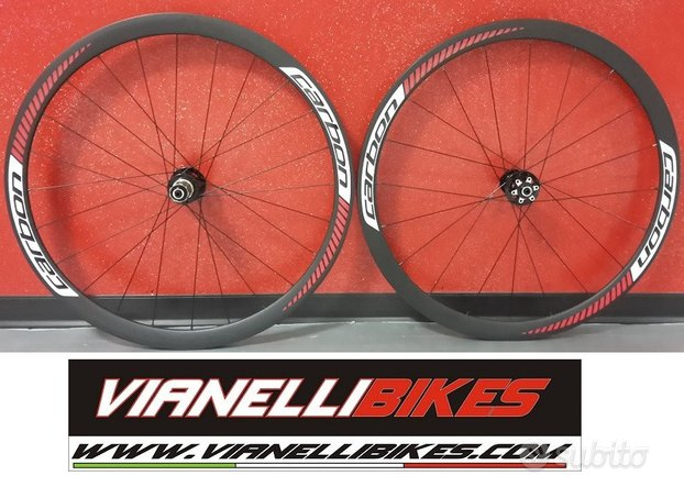 Ruote aerotec disc carbon 38 mm + gomme michelin