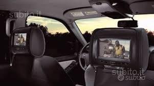 Coppia poggiatesta pelle dvd tv radio auto
