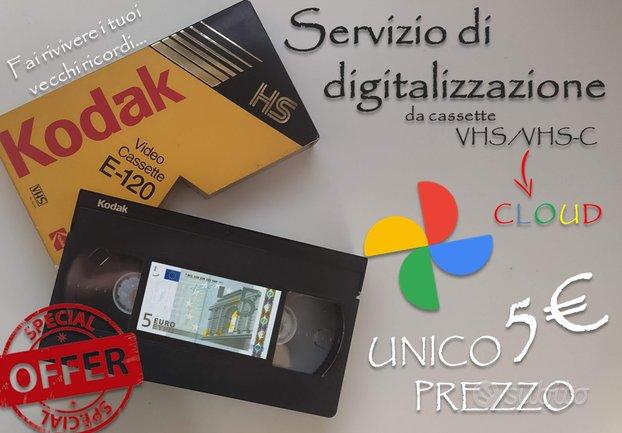 Digitalizzazione VHS/VHS-C/Hi8 servizio rapido 48H