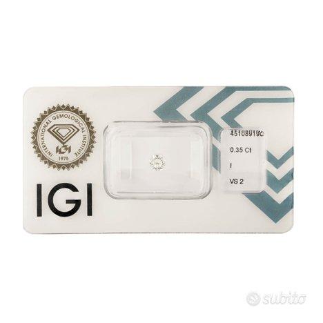 Diamante certificato IGI 0,35 ct