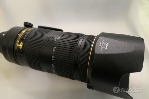 Nikon af-s 70-200 2,8e fl ed n vr usato