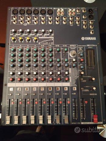 Mixer Yamaha MG124cx 12 canali+compressore