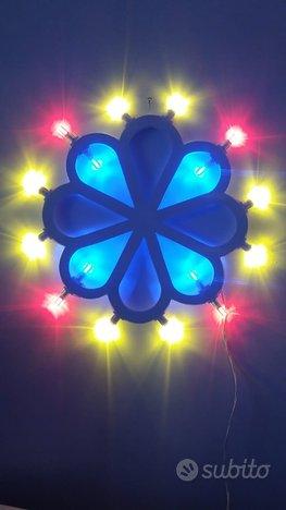 Rosone, led, luminarie, lampada artistica