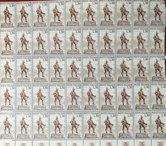 Foglio da 50 francobolli