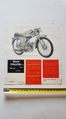 Bianchi 50 Falco Super 1963 depliant moto original