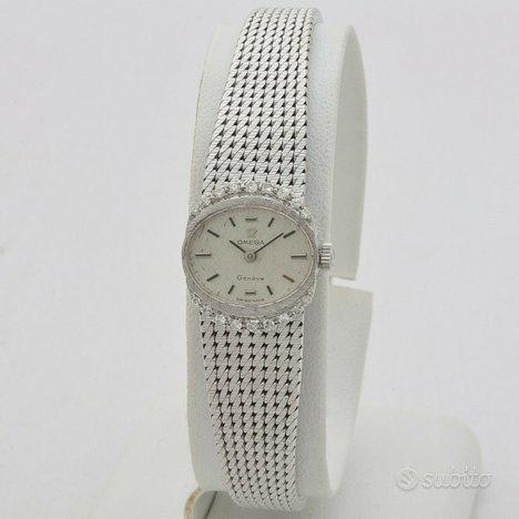Omega Geneve donna oro bianco 18kt con diamanti