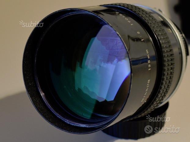 Obiettivo Nikon 135 mm F2 AI