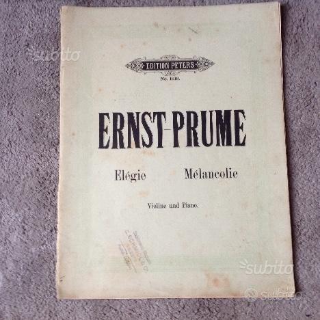 Spartiti d'epoca-ERNST -PRUME