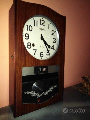 Orologio a pendolo da muro rhythm 30 day anni 50