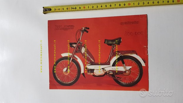 Malaguti 50 Quattrotto anni 70 depliant Ciclomotor