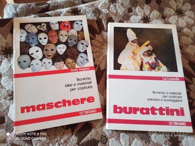 2 libri MASCHERE; BURATTINI