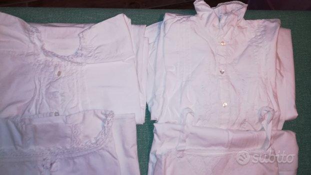 4 camicia da notte donna d'epoca - inizio 900