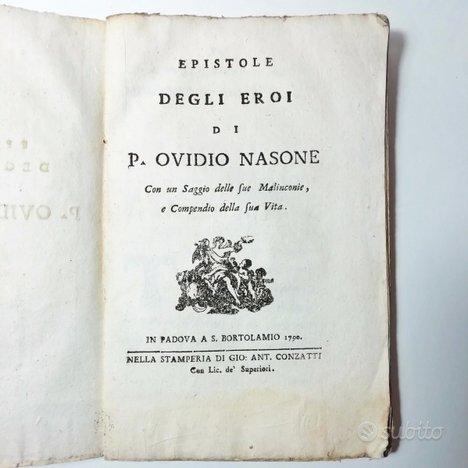 1790 - epistole degli eroi di p. ovidio nasone