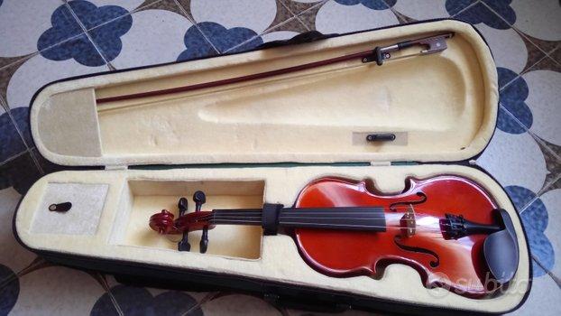 Violino 3/4 con arco e corde nuove