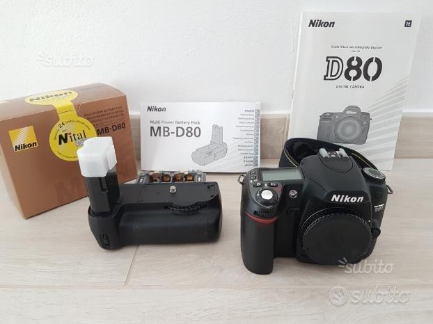 Nikon D80 con battery pack