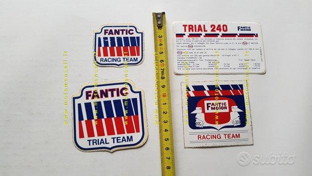 Fantic Trial 240 lotto 4 adesivi pubblicitari