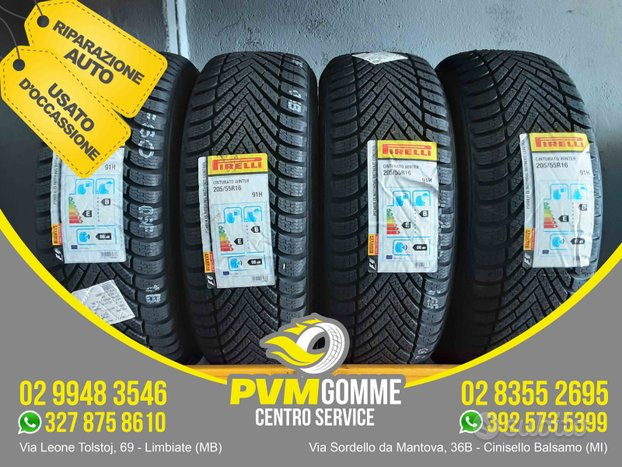 Gomme nuove 205 55 16 91h pirelli ms au