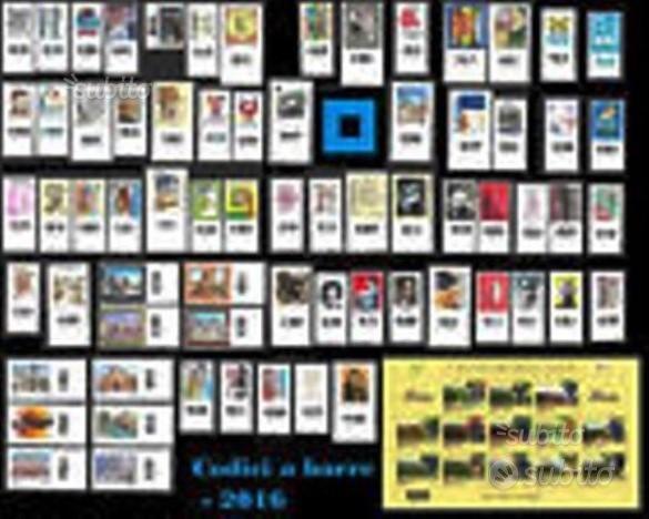 2016 Italia - Annata francobolli con il codice a b