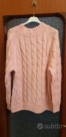 Maglione pullover pura lana lavorato a mano