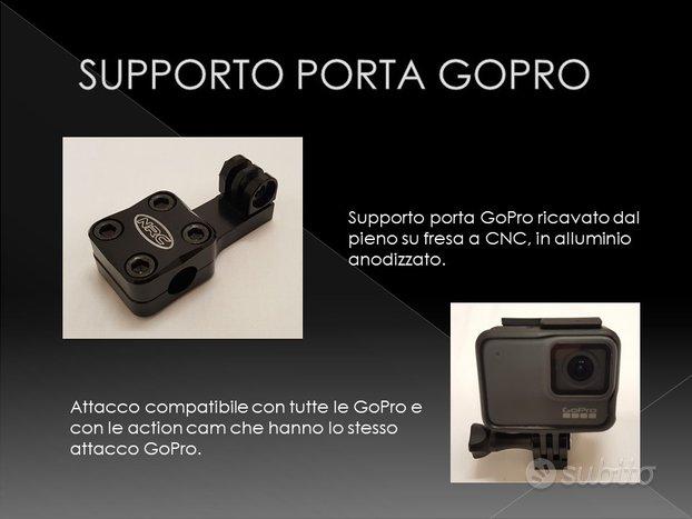 Supporto porta GOPRO x manubrio moto
