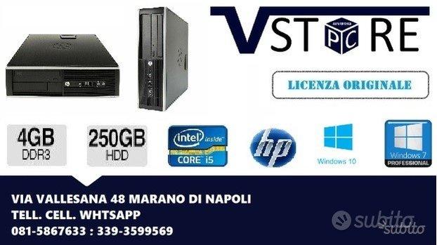 PC HP i5 4GB DDR3 250GB HD WINDOWS 7/10