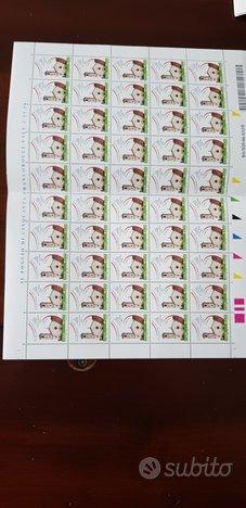 Foglio intero francobolli