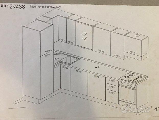 Cucina, tavolo,sedie e mobile tv color ciliegio ...