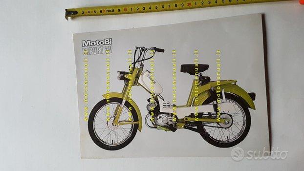 Motobi 50 Export 3V anni 70 depliant originale