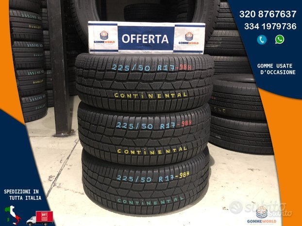 4 gomme 225 50 17 - Continental invernali