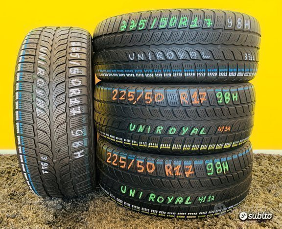 X4: NEVE 225/50R17 98H -UNIROYAL- Mont. Omaggio