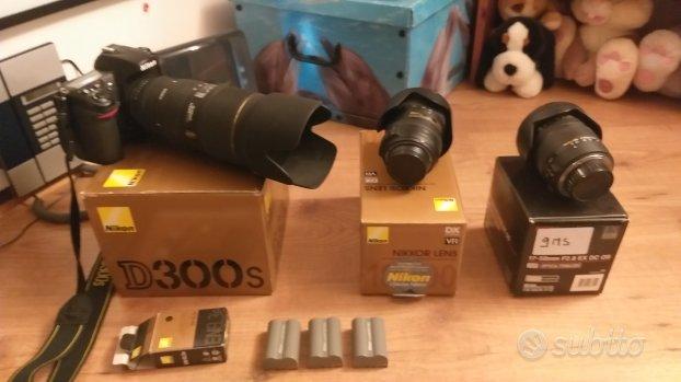 Nikon D300-s completa di obiettivi