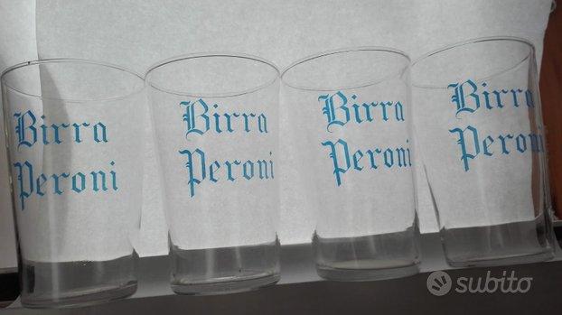 Vecchi bicchieri peroni con scrittura araldica