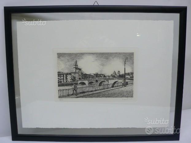 Acqueforti Verona Ponte Pietra Stampe d'Arte L'Ipp