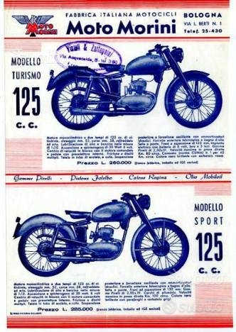Moto Morini 125 2T Turismo Sport depliant original