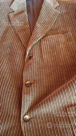Giacca invernale velluto taglia 54 colore tortora