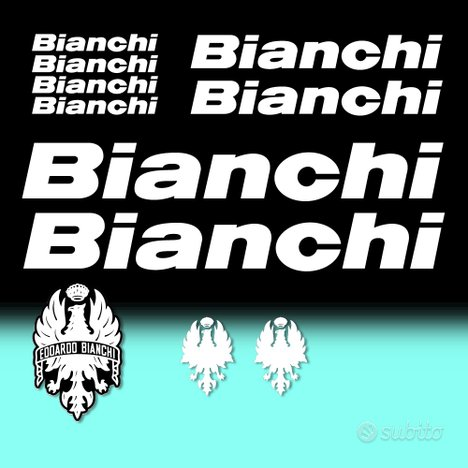 Set 11 adesivi BIANCHI Classic