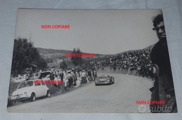 Foto antica TARGA FLORIO 1970 Fiat Abarth 1000 cc