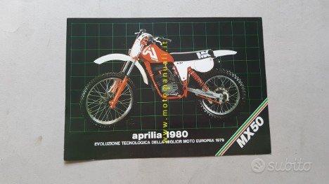 Aprilia MX 50 CROSS 1980 depliant originale moto