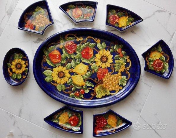 Set antipasti e pinzimonio ceramica di vietri ...