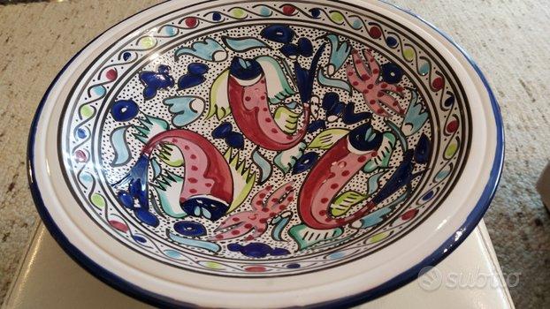 Piatto Fruttiera Ceramica Terracotta Tunisina d.36 ...