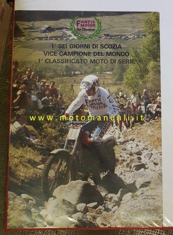 Fantic Motor Trial 300 Michaud 1984 poster epoca