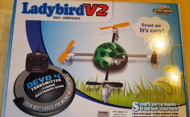 drone radiocomandato ladybird v2
