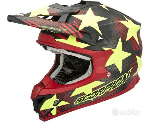 Casco moto cross enduro fuoristrada scorpion vx15